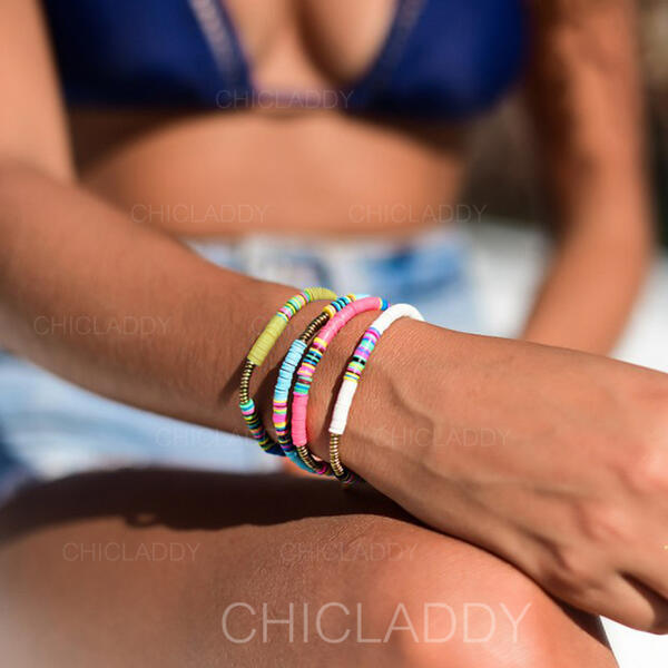 Egzotyczny Boho Stop Liny gumowe Zestawy biżuterii Bransoletki (Zestaw 5)