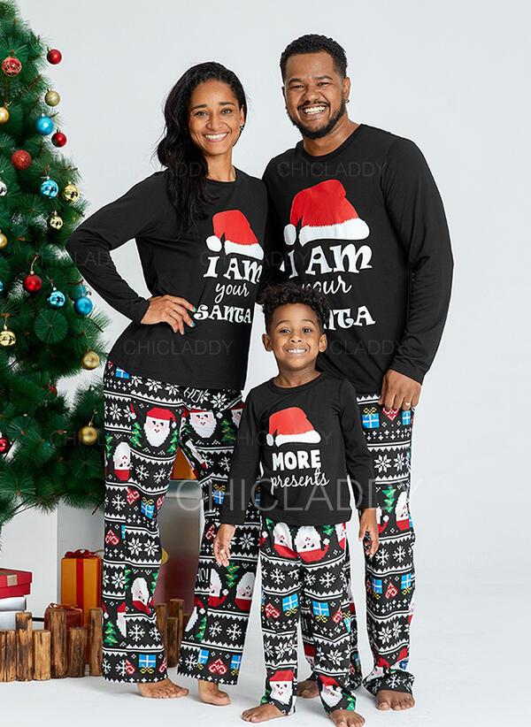 Santa Claus Dopis Rodinné odpovídající Vánoční pyžama