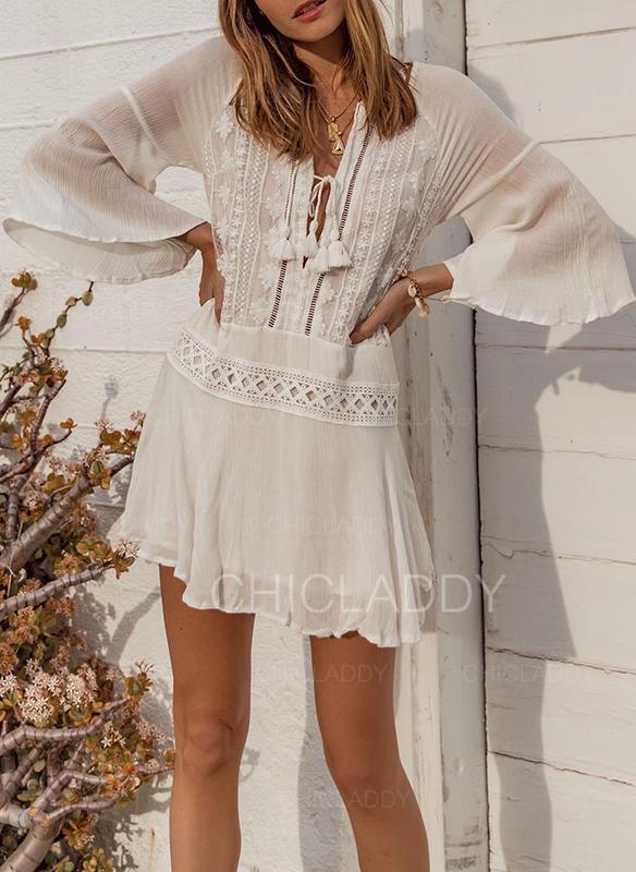 """Jednobarevné Výstřih do """"V"""" Sexy Módní Krásné přitažlivý Přehozy Costume de baie"""