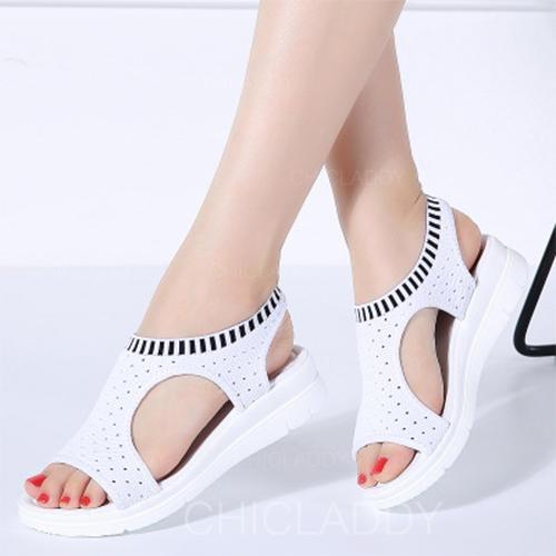 Pentru Femei Ţesătură Fară Toc Sandale cu Altele pantofi