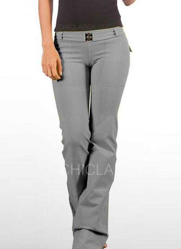 Solido tasche Taglia grossa Casuale Vintage Pantaloni da salotto