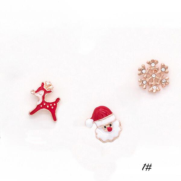 Nizza Colorato Semplice Natale lega Di faux perla con Perla imitazione Donna Orecchini (Set di 6)