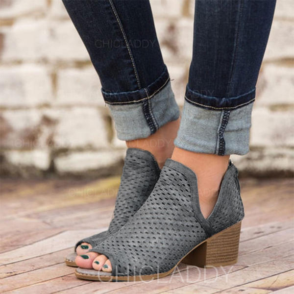PU Toc gros Sandale Puţin decupat în faţă cu Altele pantofi