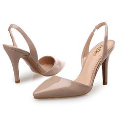 De mujer Piel brillante Tacón stilettos Salón con Material Block zapatos