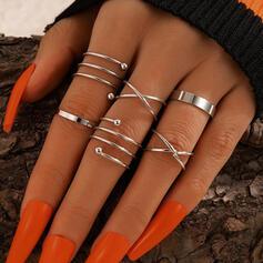 Modern Legering Kvinnor Ringar 6 st