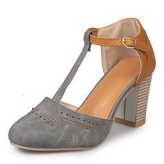 De mujer Lona Tacón ancho Sandalias con Hebilla zapatos