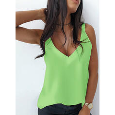 Solid Strap Sleeveless Casual Basic Tank Tops