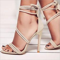 De mujer PU Tacón stilettos Sandalias Salón Encaje con Otros zapatos