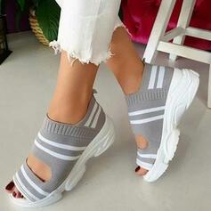 De mujer Tela Malla Tipo de tacón Sandalias Encaje con Otros zapatos