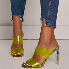De mujer PVC Tacón ancho Sandalias Salón Encaje Pantuflas con Otros zapatos