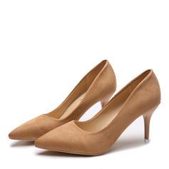 Women's Suede Stiletto Heel Pumps shoes