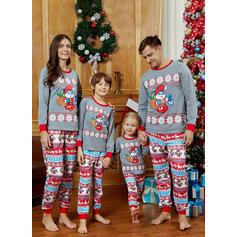 Cartoon Tisk Rodinné odpovídající Vánoční pyžama