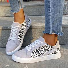 Vrouwen PU Flat Heel Dans Sneakers met Dier Afdrukken schoenen