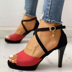 Γυναίκες Καστόρι Ψηλό τακούνι Γοβάκια Με Απομιμήσεις Pearl Πόρπη παπούτσια