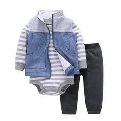 3 pièces bébé Striped Coton Définir La Taille
