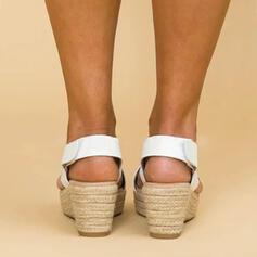 PU Kilklack Sandaler Kilar Peep Toe Klackar skor