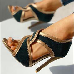 Γυναίκες PU Ψηλό τακούνι Γοβάκια Ανοιχτά σανδάλια toe παπούτσια