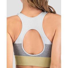 Cuello en U Sin mangas Bloque de color Sujetadores deportivos