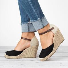 Mulheres PU Plataforma Bombas com Fivela sapatos