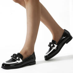 Women's PU Flat Heel Flats With Splice Color shoes