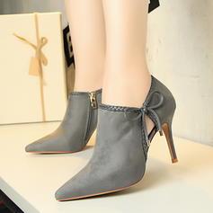 De mujer Ante Tacón stilettos Salón Cerrados Botas al tobillo con Apliques zapatos
