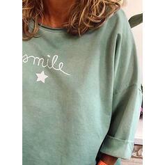 Impresión Cuello redondo Mangas 3/4 Casual Camisetas