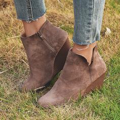 De mujer PU Tipo de tacón Botas al tobillo con Cremallera zapatos