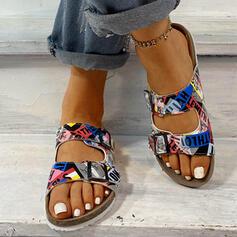 Σανδάλια Διαμερίσματα Παπούτσια με λουρί Παντούφλες Με Κουμπί παπούτσια