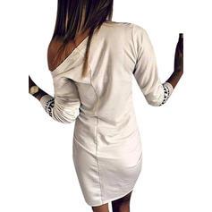 Floral/Animal Print 3/4 Sleeves Bodycon Knee Length Dresses