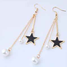 Exquisite Alloy Imitation Pearls With Imitation Pearl Women's Fashion Earrings (Set of 2)