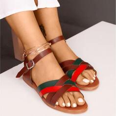 Női PU Lapos sarok Szandál cipő