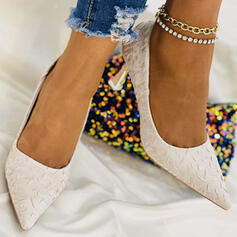 婦人向け ファブリック スティレットヒール かかと とともに ソリッドカラー 靴