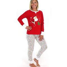 Moș Crăciun Desen Animat De Familie Pijamale De Crăciun