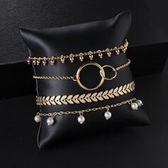 Najgorętsze Stop Z Imitacja Pereł Zestawy biżuterii Bransoletki Biżuteria plażowa (4 sztuki)