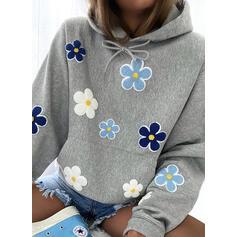 Květiny Dlouhé rukávy Kapuce