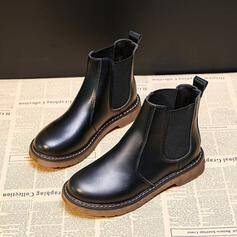 Tacco basso Senza tacco Tacco spesso Stivali Stivali alla caviglia Stivali da pioggia In cima con Altrui Fascia di gomma Colore solido scarpe