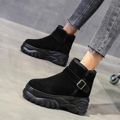 婦人向け スエード フラットヒール とともに バックル 靴