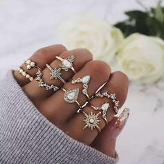 Stylish Alloy Jewelry Sets Rings (Set of 10)