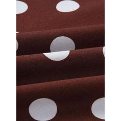 PolkaDot Long Sleeves A-line Skater Casual Maxi Dresses