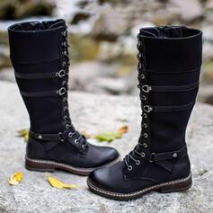 Μίνι μπότες Martin Boots Στρογγυλά παπούτσια Με Πόρπη Κέντημα-επάνω παπούτσια