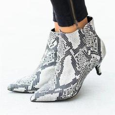 De mujer Ante Tacón chupete Salón con Estampado de animales zapatos