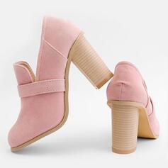 Kvinnor PU Tjockt Häl Pumps Stövlar med Andra skor