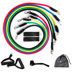 Sports Multi-functional Emulsion Resistance Band Sports Tools (Set of 11)