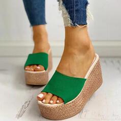 De mujer Ante Tipo de tacón Sandalias Encaje Pantuflas zapatos