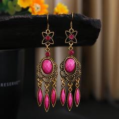 Colorido Boho Aleación Diamantes de imitación De mujer Pendientes
