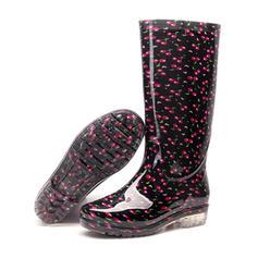 Pentru Femei PVC Toc jos Cizme Cizme până la genunchi Cizme de Ploaie cu Altele pantofi