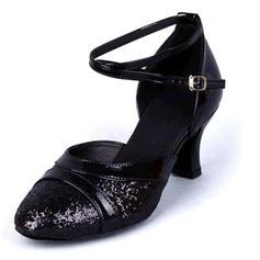 Pentru Femei Sala de Bal Sandale Imitaţie de Piele Sclipici Sclipitor Latini