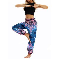 Impresión Floral Pantalones deportivos
