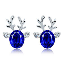 Lovely Alloy Rhinestones Ladies' Fashion Earrings