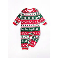 Rena Carta Impressão Família Combinando Natal Pijama